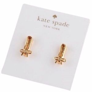 kate spade Jewelry - KATE SPADE • On Pointe Ballet Slippers Earrings
